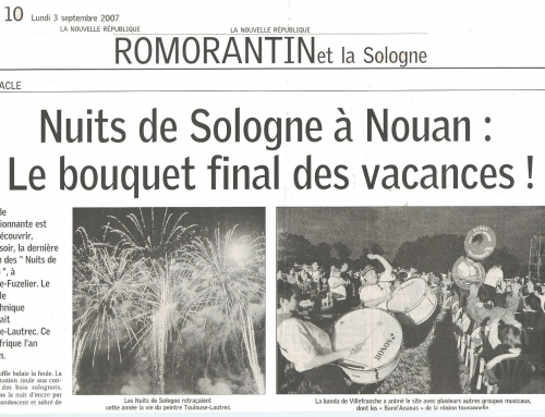 """NUITS DE SOLOGNE À NOUAN : """"LE BOUQUET FINAL DES VACANCES !"""""""