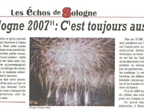 """""""NUIT DE SOLOGNE 2007"""" : C'EST TOUJOURS AUSSI MAGIQUE !"""
