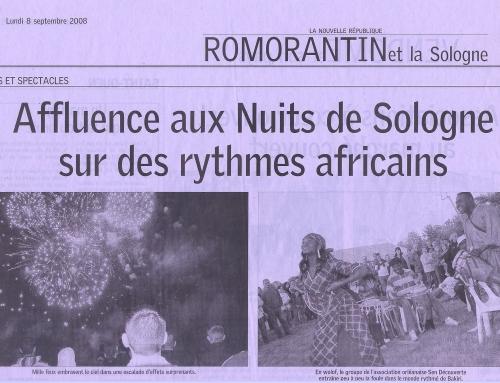AFFLUENCE AUX NUITS DE SOLOGNE SUR DES RYTHMES AFRICAINS