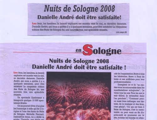 NUITS DE SOLOGNE 2008 DANIELLE ANDRÉ DOIT ÊTRE SATISFAITE !