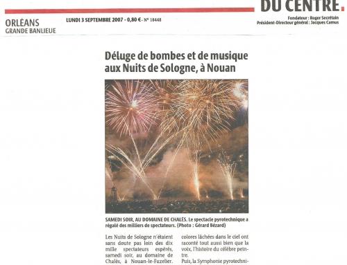 DÉLUGE DE BOMBES ET DE MUSIQUE AUX NUITS DE SOLOGNE, À NOUAN