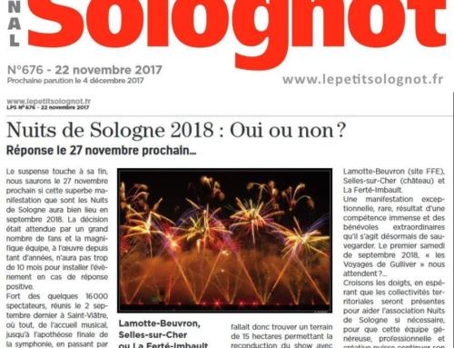 NUITS DE SOLOGNE 2018 : OUI OU NON ?