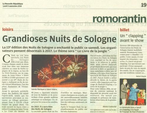 GRANDIOSES NUITS DE SOLOGNE