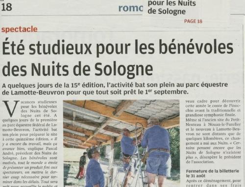 ÉTÉ STUDIEUX POUR LES BÉNÉVOLES DES NUITS DE SOLOGNE