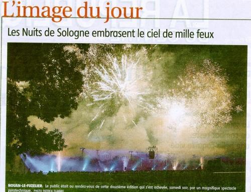LES NUITS DE SOLOGNE EMBRASENT LE CIEL DE MILLE FEUX